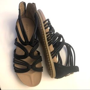 Adam Tucker Stella black strappy sandal si…